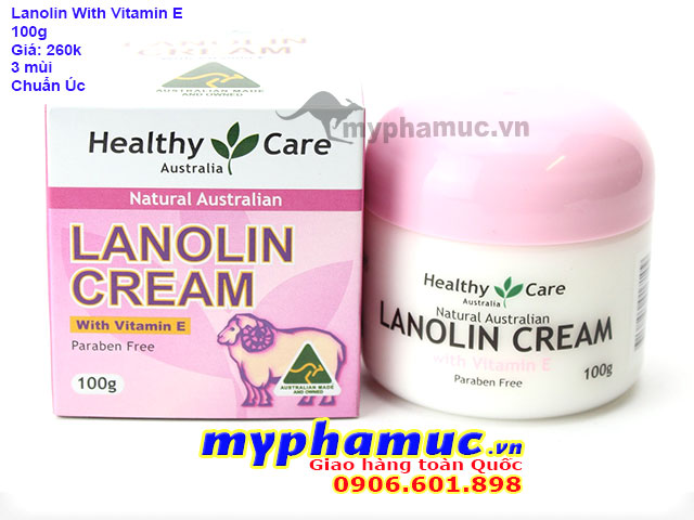 Kem Nhau Thai Cừu Healthy Care Lanolin Cream With Vitamin E 100g | Date Oct 2022