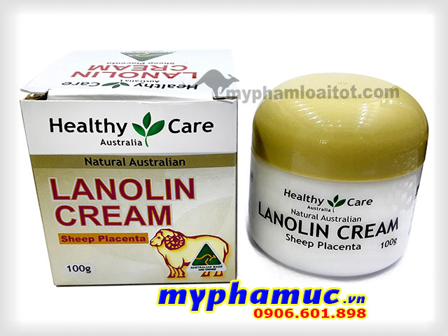 Kem Nhau Thai Cừu Healthy Care Lanolin Cream With Sheep Placenta 100g date 2022