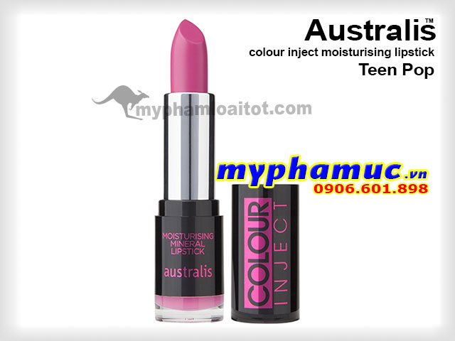 Son môi tốt Australis colour inject moisturising Teen Pop