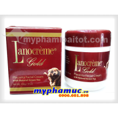 Kem nhau thai cừu Lanocrème Gold Placenta Facial Cream with Natural Green Tea 100g