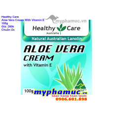Kem Dưỡng Da Healthy Care Aloe Vera Cream with Vitamin E 100g | Date Jun 2022