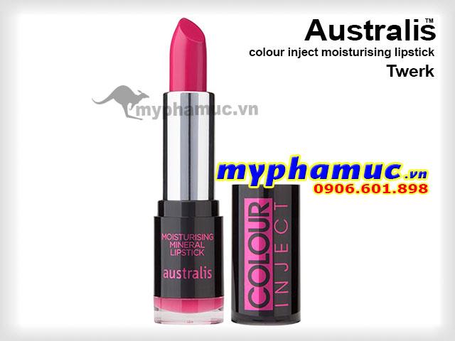 Son môi tốt Australis colour inject moisturising Twerk