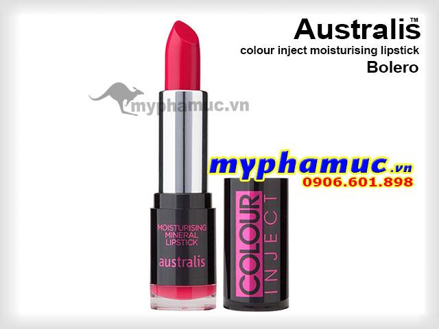 Son môi tốt  Australis colour inject moisturising Bolero