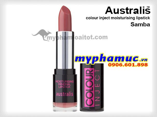 Son môi Australis colour inject moisturising Samba