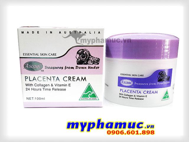Kem Nhau Thai Cừu Ascool Placenta Cream 100ml