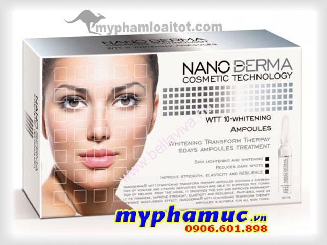 Tinh Chất Serum Làm trắng và tái tạo da-NANODERMA WTT 10-WHITENING TRANSFORM AMPOULES