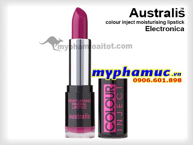 Son môi tốt Australis colour inject moisturising Electronica