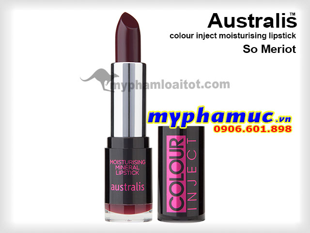 Son môi Tốt Australis colour inject moisturising So Meriot 71069