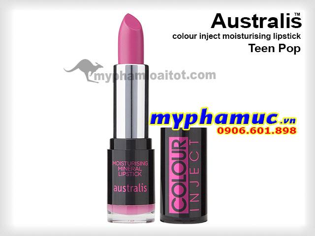 Son môi tốt Australis colour inject moisturising Teen Pop