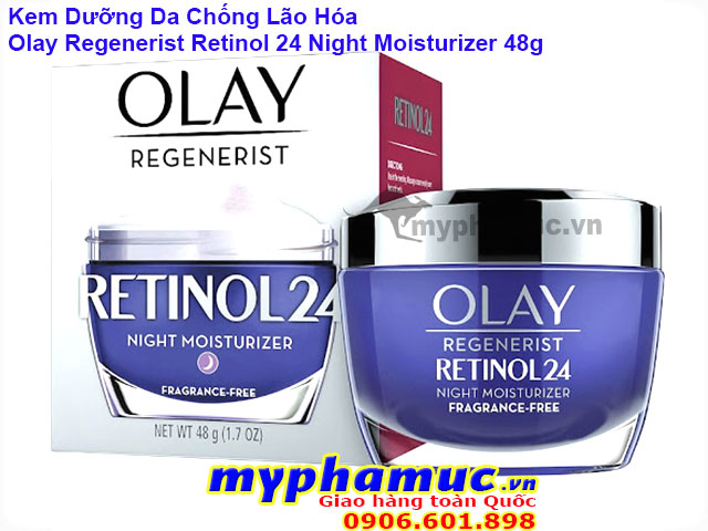 Kem Dưỡng Da Chống Lão Hóa Olay Regenerist Retinol 24 Night Moisturizer 48g