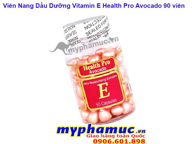 Viên Nang Dầu Dưỡng Vitamin E Health Pro Avocado 90 Viên