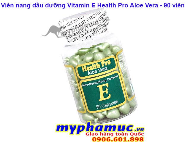 Viên Nang Dầu Dưỡng Vitamin E Health Pro Aloe Vera 90 viên
