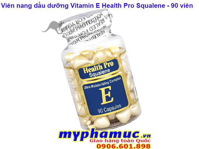 Viên Nang Dầu Dưỡng Vitamin E Health Pro Squalene 90 viên